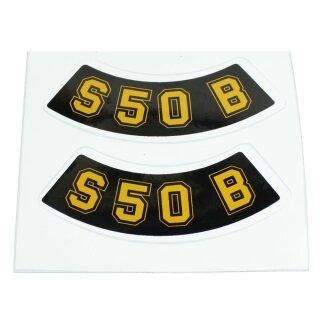 S51 S53 S70 2x Aufkleber Schriftzug SIMSON neongelb S50 S83