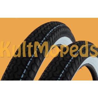 1//2 2,50 x 19 K252 23 Kreidler Florett K53 K54 Amazone Reifen Satz Weißwand 2
