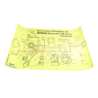 Simson Schaltplan KR51/2 L KR51 Schwalbe Elektronik Z&uu