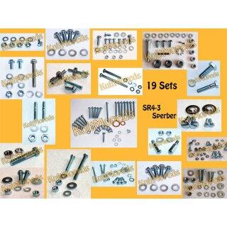 Schrauben Set Motor Aufhängung pass f Simson KR51 Schwalbe Spatz K Star Habicht