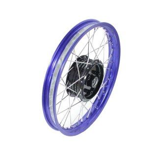 Blaue Felge Edelstahl Speichen Simson S51 S50 Schwalbe 87 95