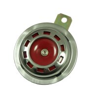 Hupe Signal Horn 6V Chrom Rot f Mz Rt125 Es 175 250 300...